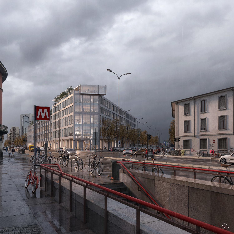 "The ""Magnet"" office building in Milan-Genius Loci architettura, 2020"