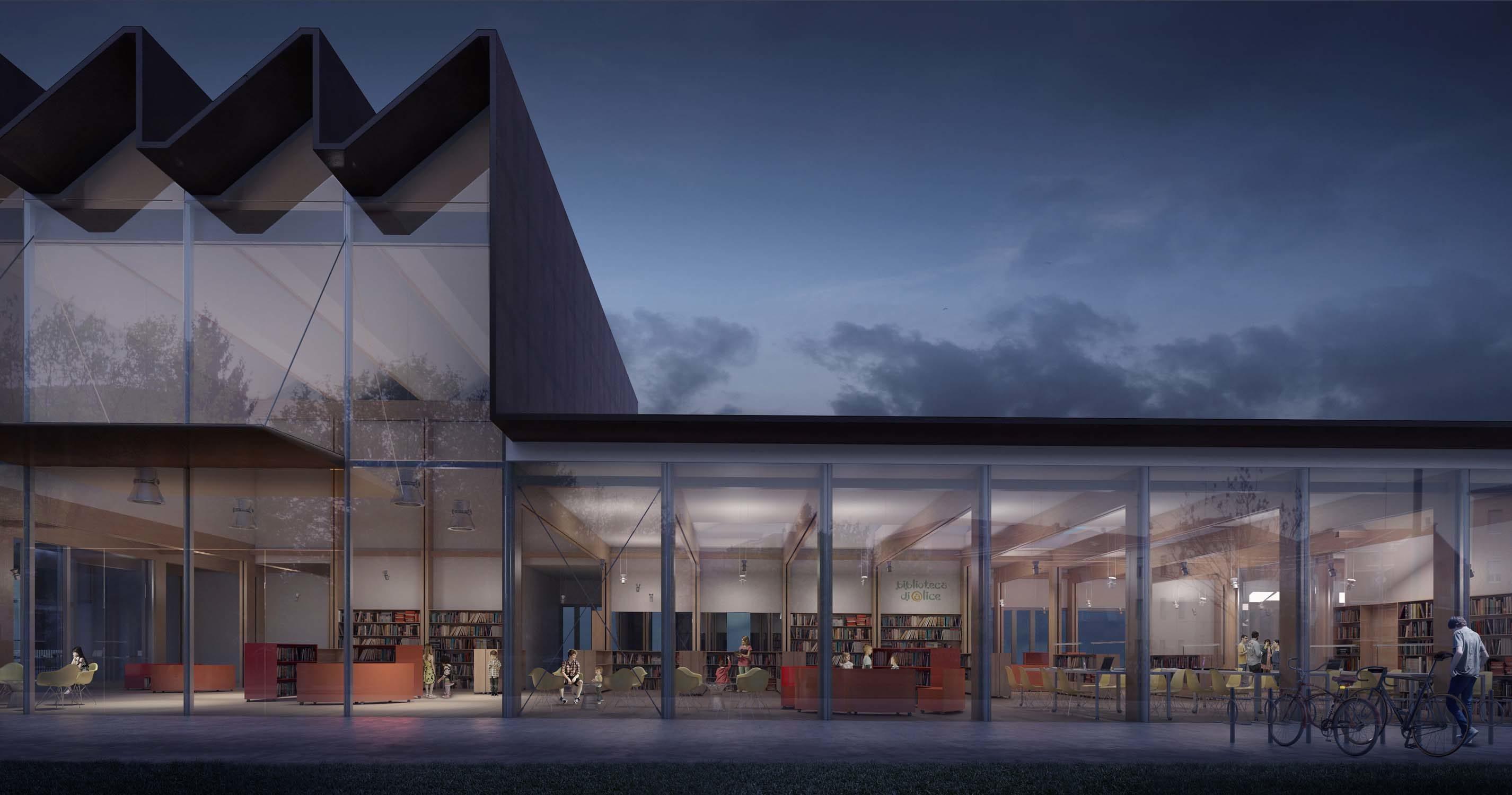 Alice's library in Parma – Studio 4S Francesco Fulvi, 2016