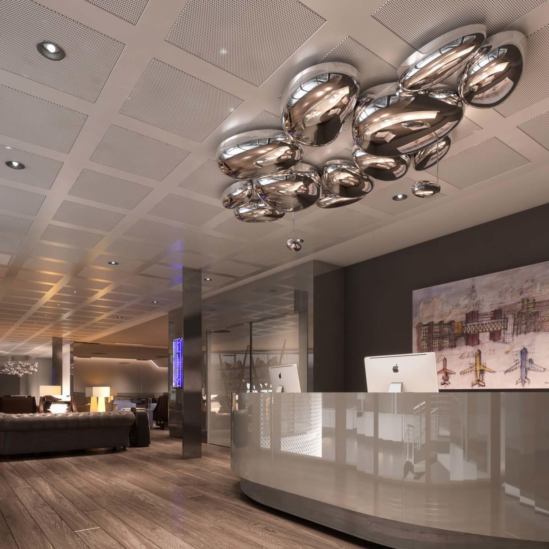 Reception Vip area – Linate airport in Milan – Sea Linate in collaboration with Strutturaleggera, 2017