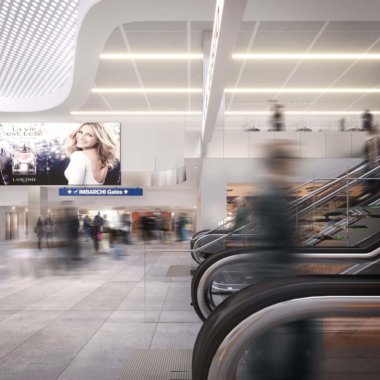 Linate airport in Milan – Sea Linate in collaboration with Strutturaleggera, 2017