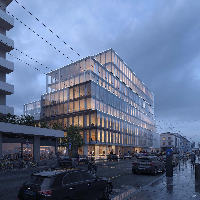 Porta Nuova, New office building in Porta Nuova Milano – Scandurra Studio, 2020
